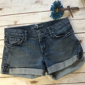 7 For All Mankind Jeans Cuffed Shorts Size 29